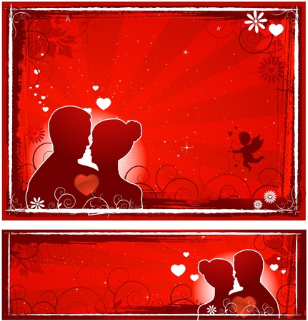 Valentine's day banners Stock Vector - 8482779