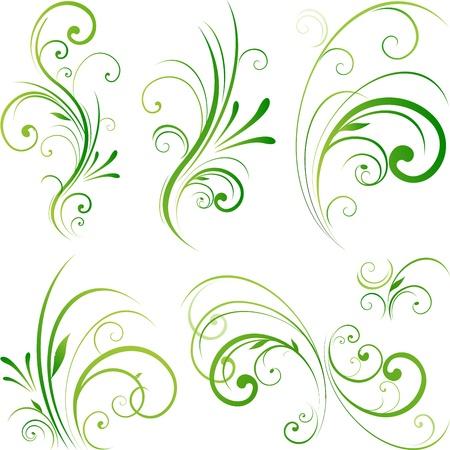 Decoratieve ontwerp met bloemen wervelende Stock Illustratie