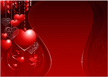 Greeting card valentines day background Vector