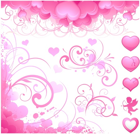 Valentines day elements Vector