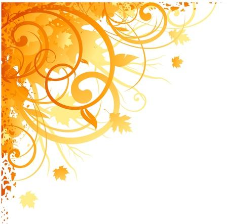 スワール: 秋のコーナ設計  イラスト・ベクター素材