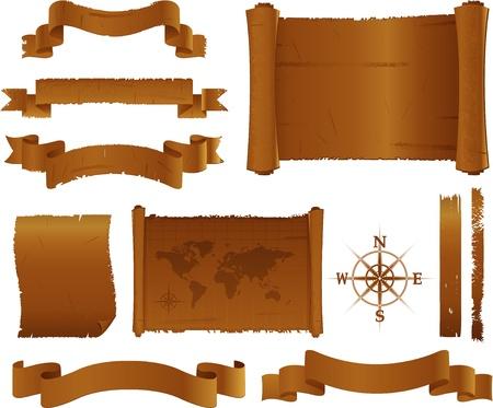 parchment texture: Vecchia pergamena