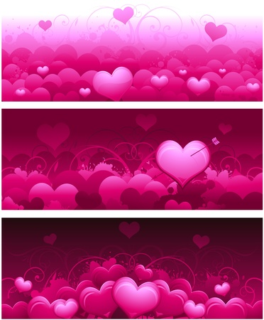 Valentine's day headers Stock Vector - 8626853