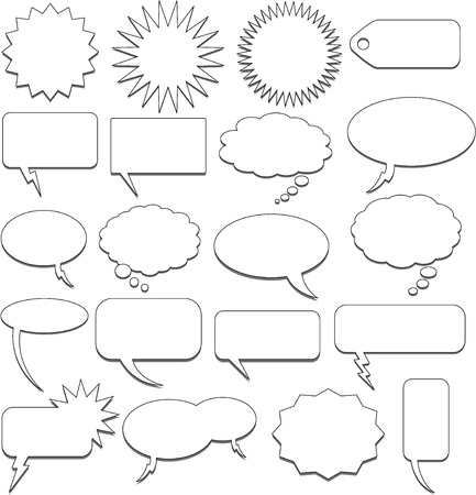 illustrates: speech bubble collection Illustration