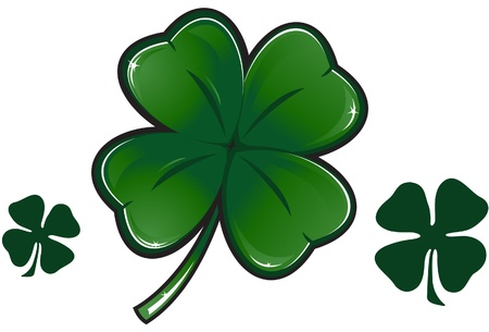 four objects: Clover leaf illustration