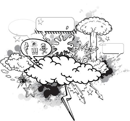Grunge hand drawn cartoon design