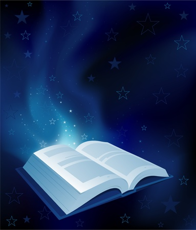 open magic book Vector