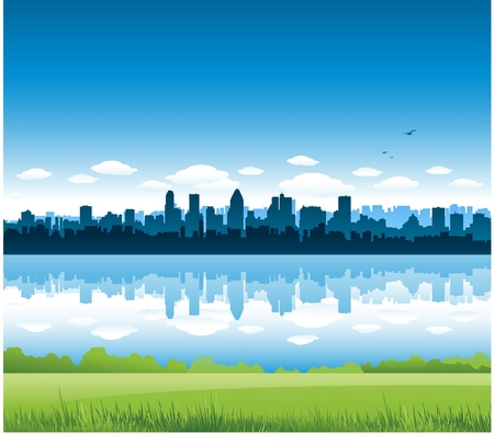 new york skyline: Montreal city landscape
