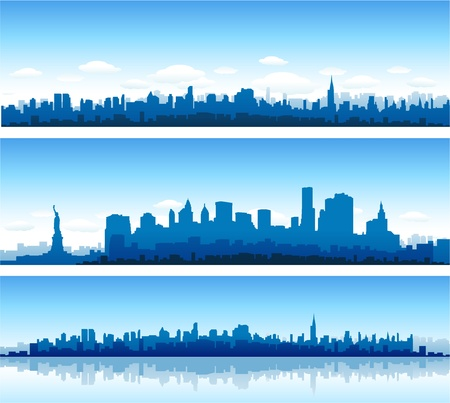 city skyline night: New York City skyline