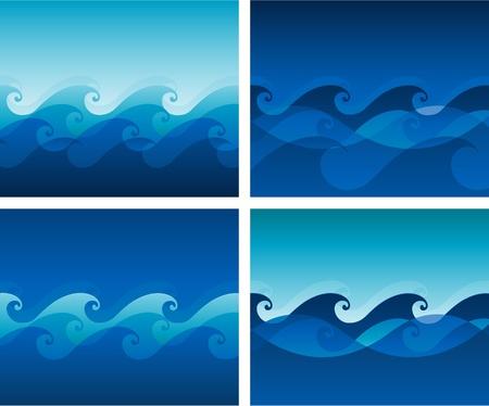 波のベクトルの背景