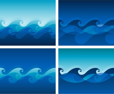 Vector wave background