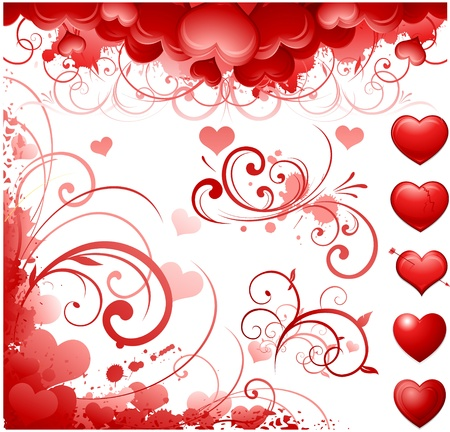 Valentine's day design elements Stock Vector - 8601274
