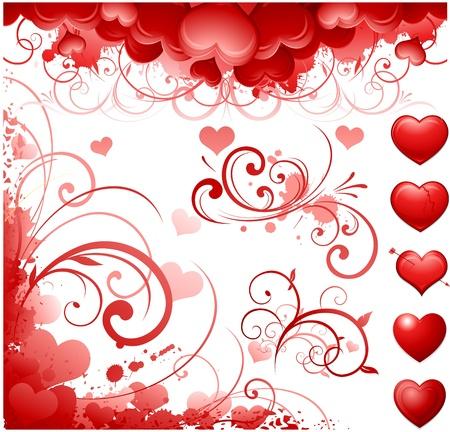 Valentine's day design elements Stock Vector - 8601274