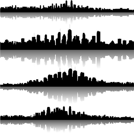 city skylines Stock Vector - 8634126