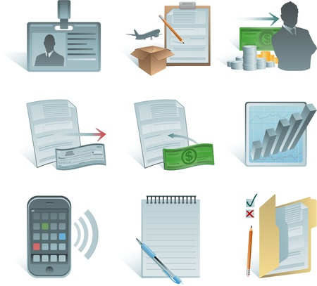 accounting icons Vector