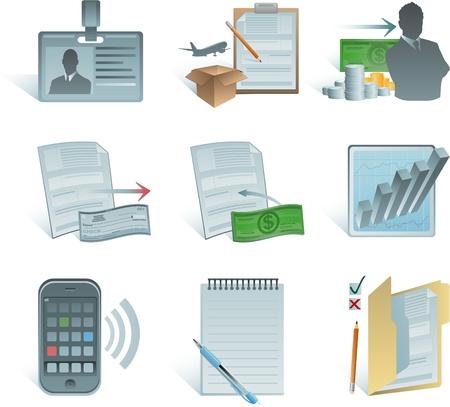 iconos de contabilidad Foto de archivo - 8634133
