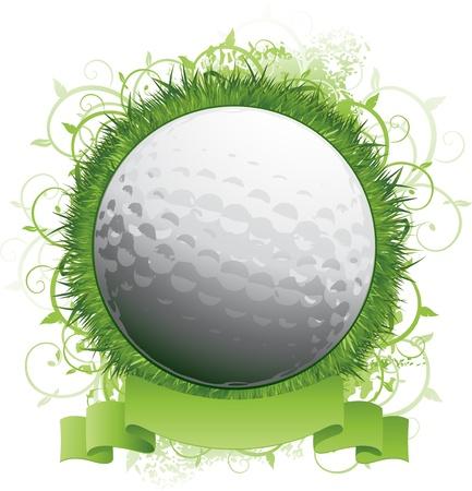 golfing: Golf logo embleem