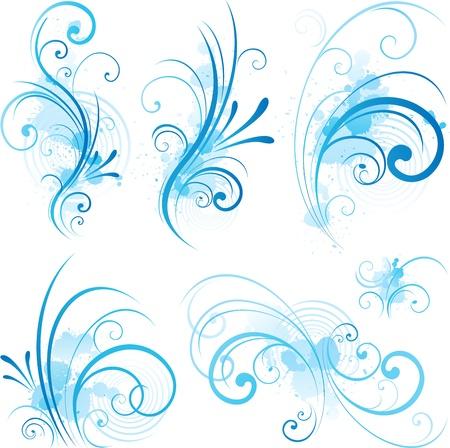 スワール: 青い旋回活気づく