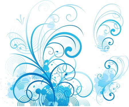 elegância: blue swirls