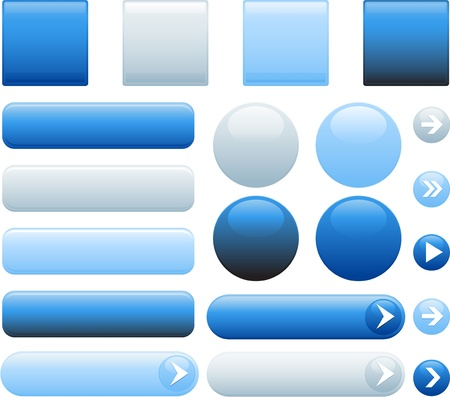 website glossy buttons Vector