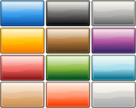 Glossy internet buttons Vector