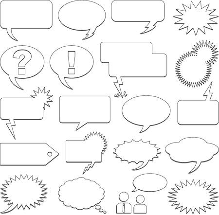 Tekst ballonnen Stock Illustratie