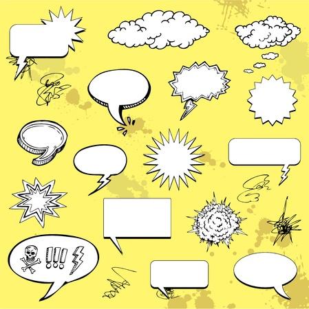 Graffiti doodle speech bubble Vettoriali