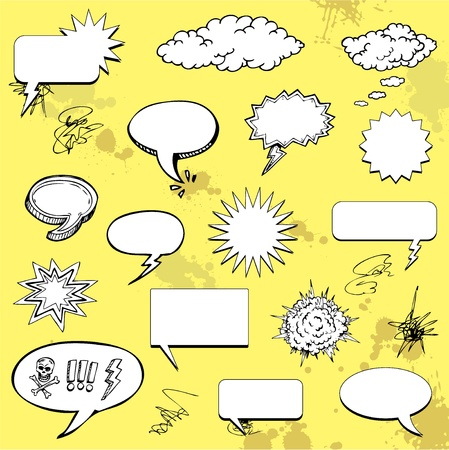 dialog balloon: Graffiti doodle speech bubble Illustration