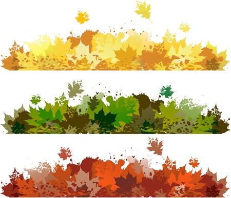 web site design: Leaves banner Illustration