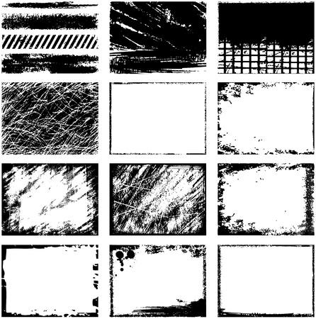 rundown: Grunge frames Illustration