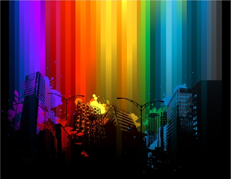 grunge background: Colorful urban design