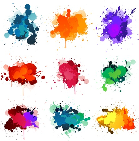 paint drips: Splat de pintura Vectores
