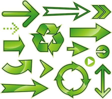 green environment: Green arrows - environment symbols