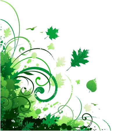 Spring floral decoration corner Vector