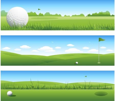 golf drapeau: En-t�tes de golf