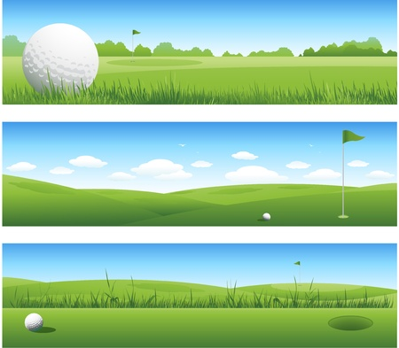 Golf headers Vector