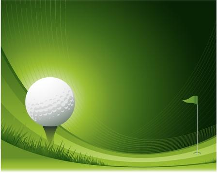 golf drapeau: Arri�re-plan de golf