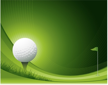 putting green: Golf background Illustration
