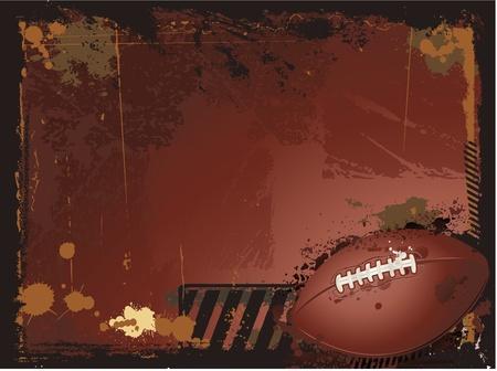 football silhouette: Grunge background di football americano Vettoriali