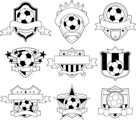 pelota de futbol: Emblema de f�tbol