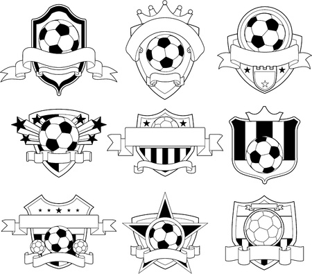 Soccer emblem Stock Vector - 8629811