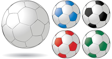 pelota de futbol: Bal�n de f�tbol Vectores