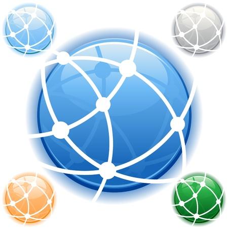 Logotipo de la red Foto de archivo - 8629812