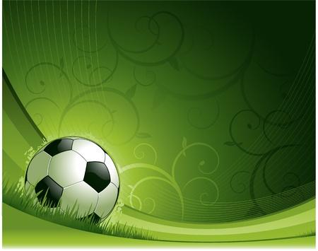 soccer: Soccer background Illustration