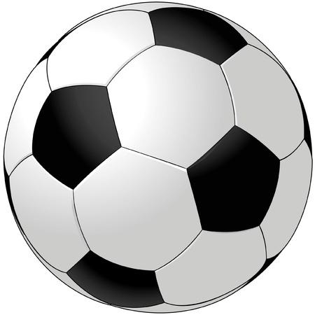 pelota de futbol: Bal�n de vector de f�tbol aislado en blanco