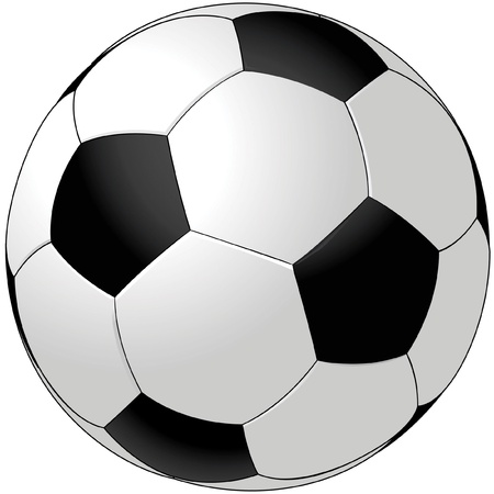 ballon foot: Ballon de soccer de vecteur isol� sur fond blanc Illustration