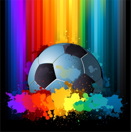 Colorful soccer background Stock Vector - 8626929
