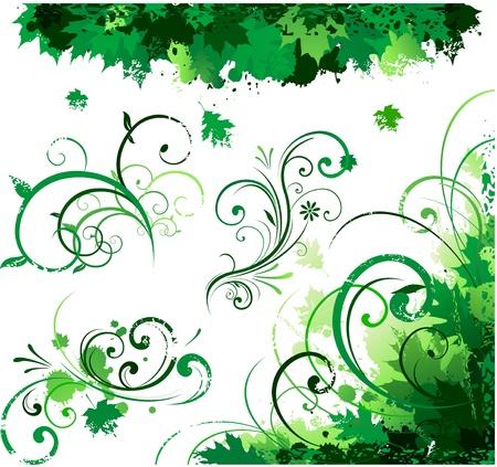Spring floral corner Illustration