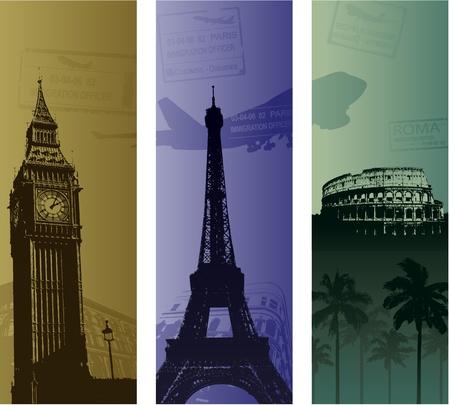 Arrière-plan de voyage. Banque d'images - 8626862