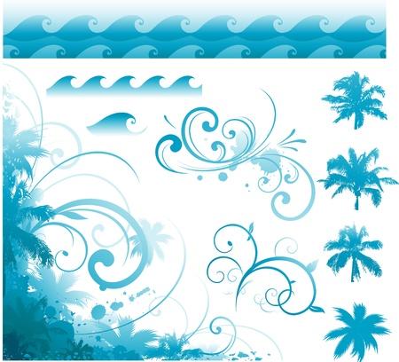 Tropical elements Vectores